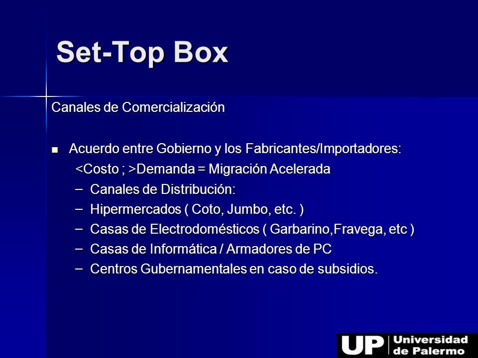 Set-Top Box Canales de Comercialización