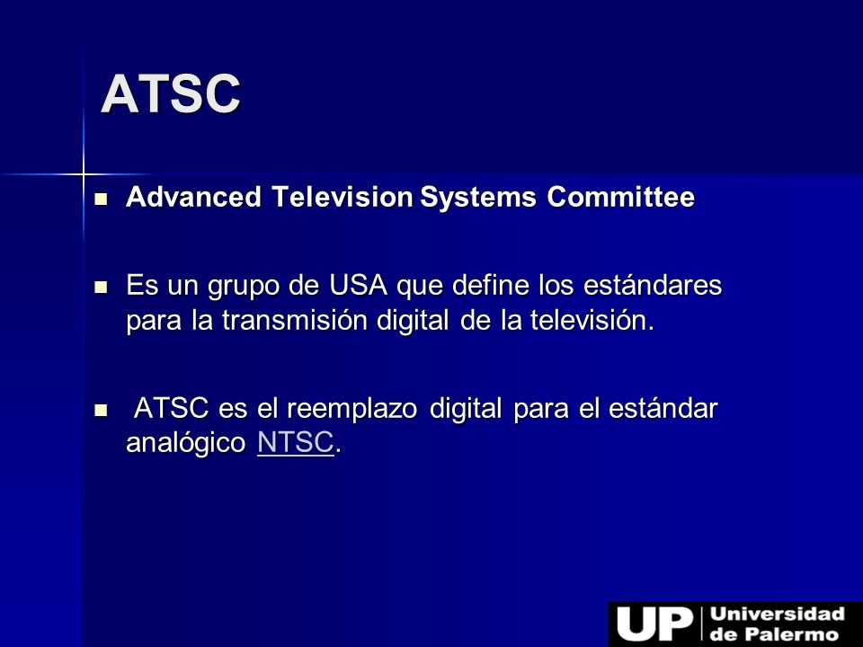 ATSC Advanced Television Systems Committee