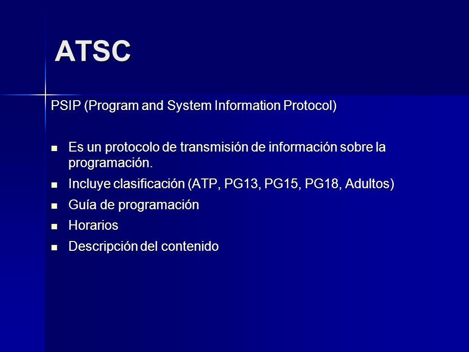ATSC PSIP (Program and System Information Protocol)