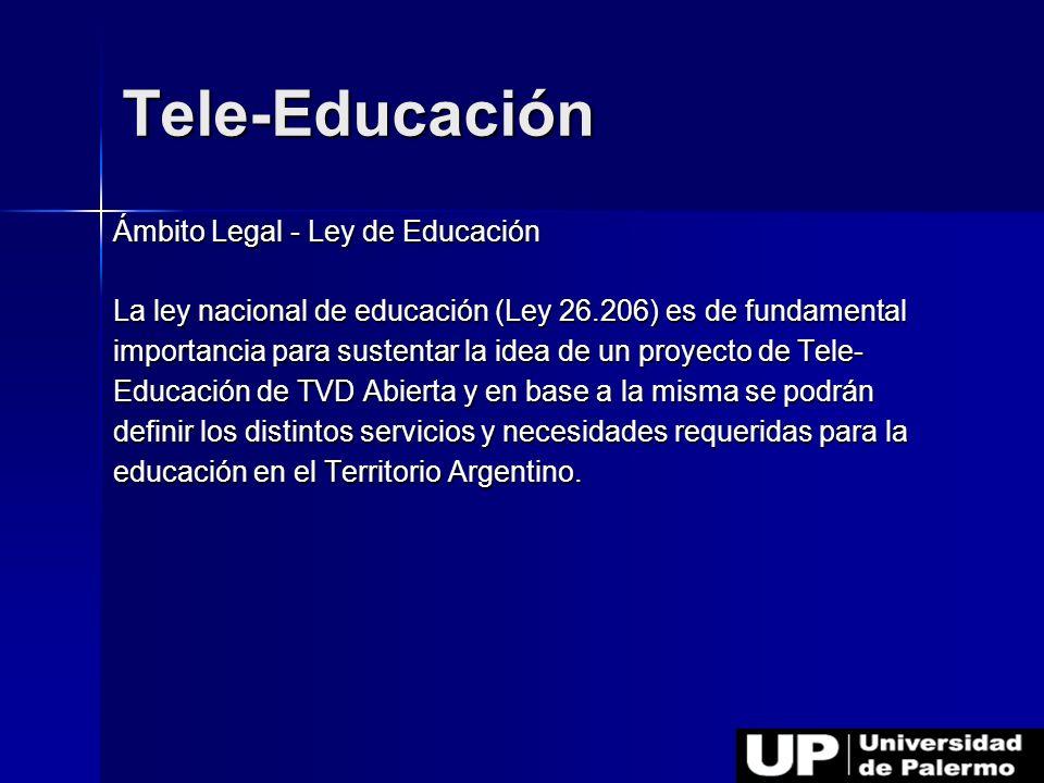 Tele-Educación Ámbito Legal - Ley de Educación