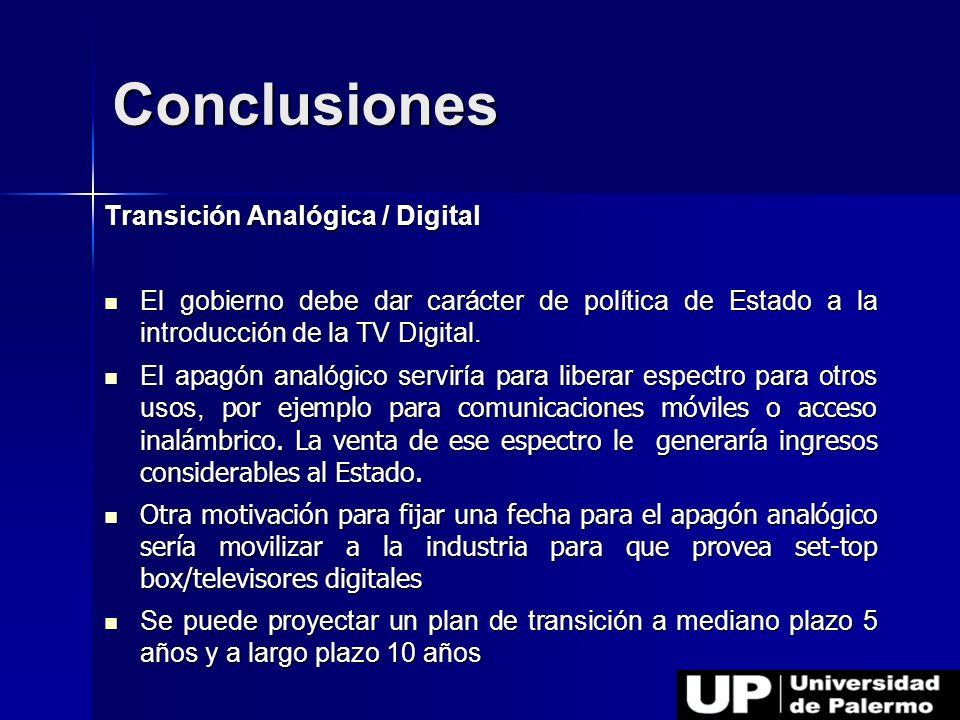 Conclusiones Transición Analógica / Digital