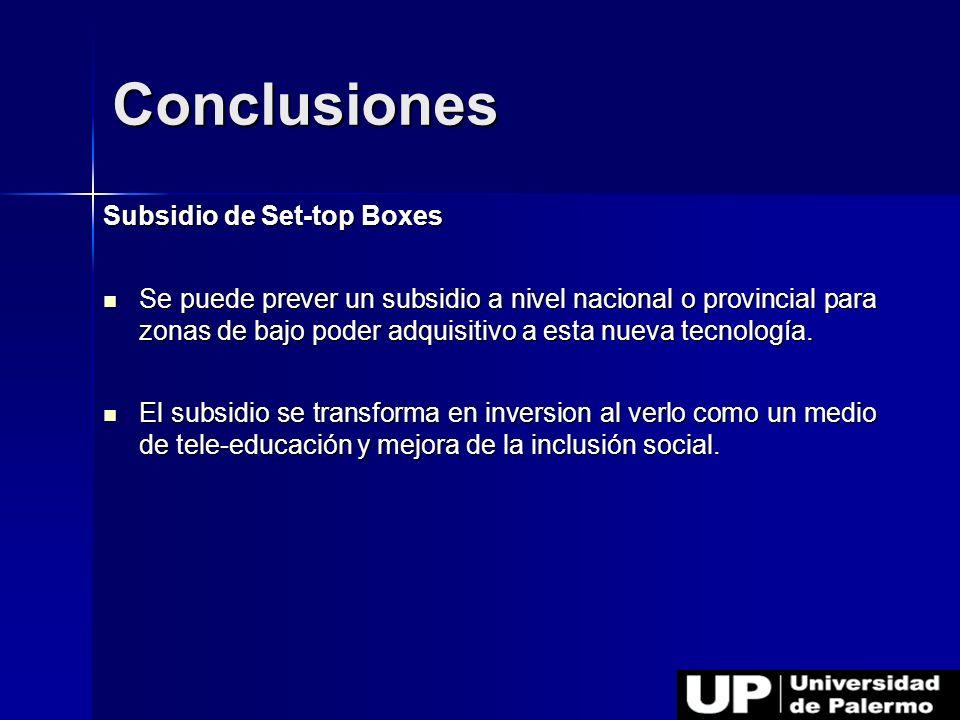 Conclusiones Subsidio de Set-top Boxes