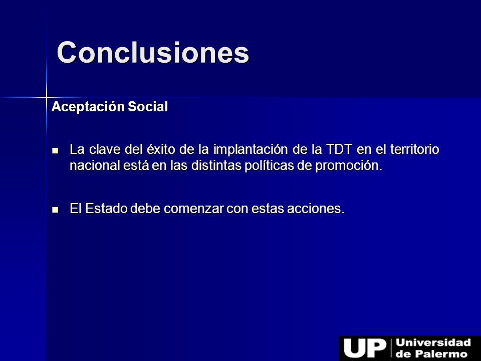 Conclusiones Aceptación Social