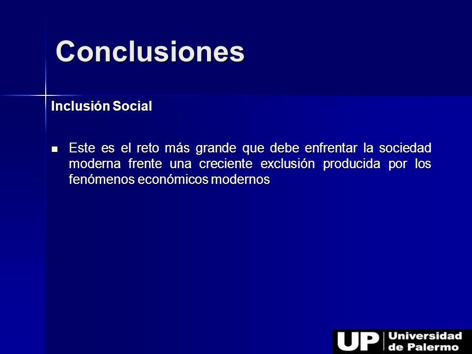 Conclusiones Inclusión Social