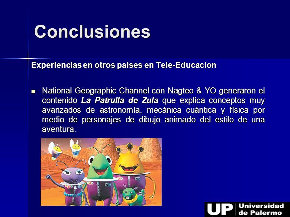 Conclusiones Experiencias en otros paises en Tele-Educacion