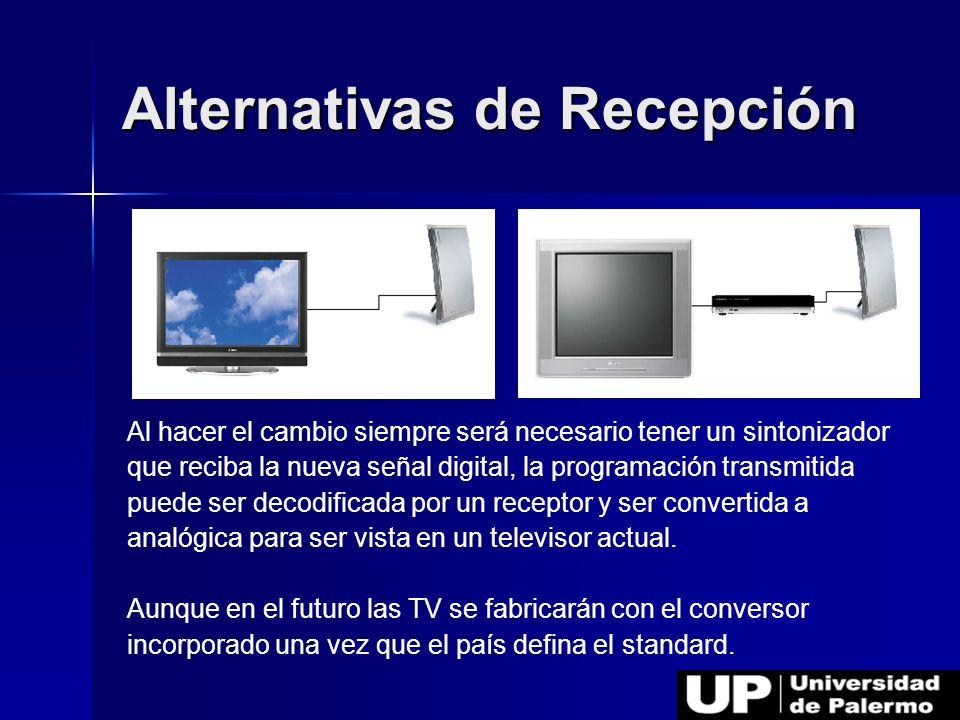 Alternativas de Recepción