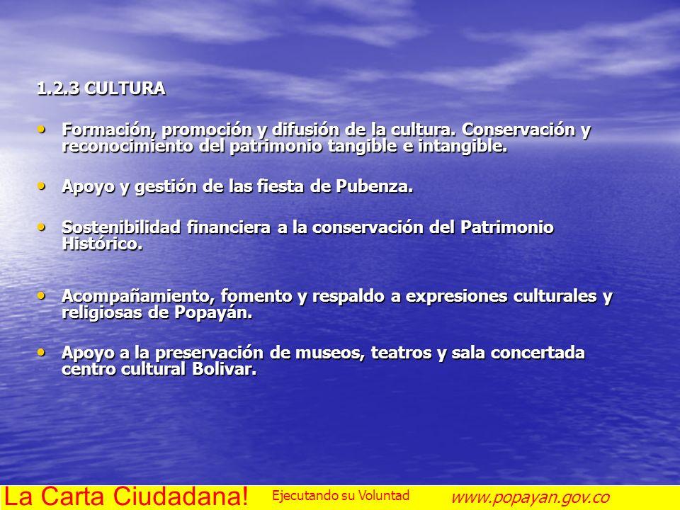 La Carta Ciudadana! 1.2.3 CULTURA
