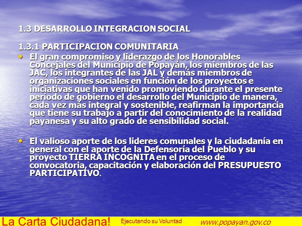 1.3 DESARROLLO INTEGRACION SOCIAL