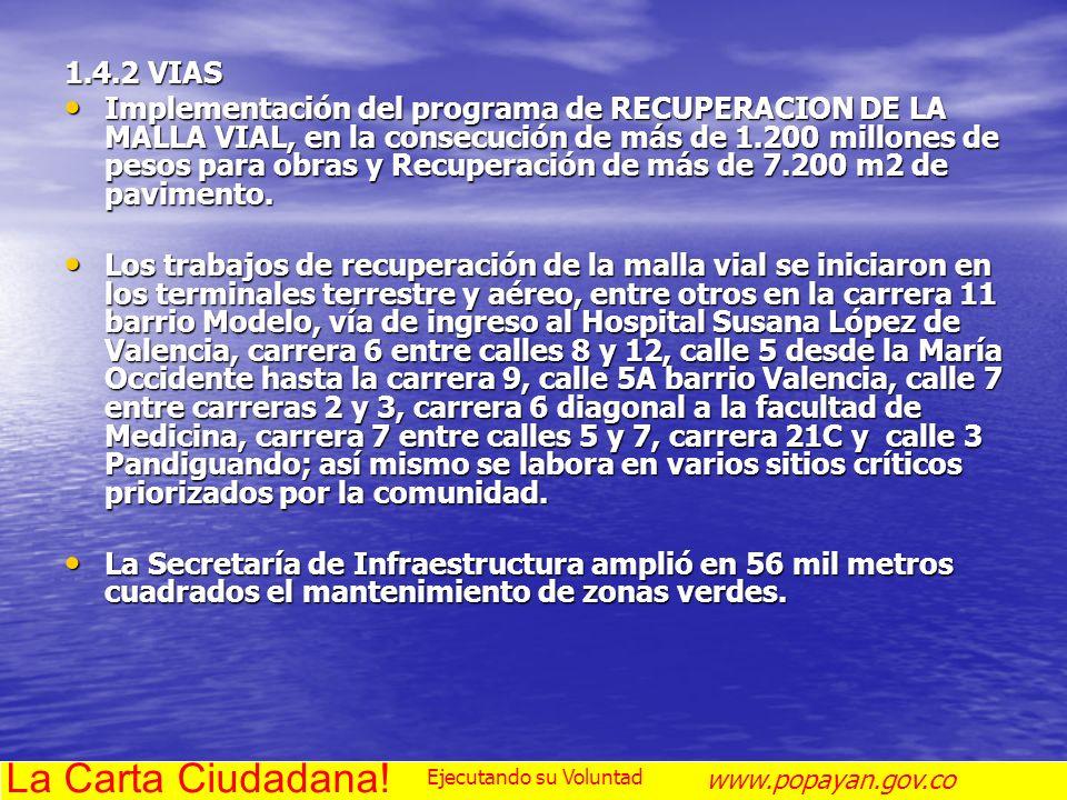 La Carta Ciudadana! 1.4.2 VIAS