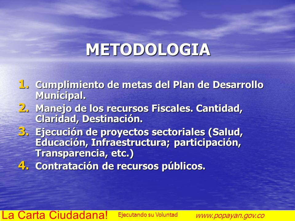 METODOLOGIA La Carta Ciudadana!