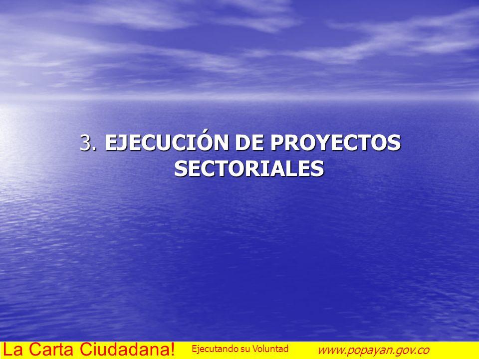 3. EJECUCIÓN DE PROYECTOS SECTORIALES