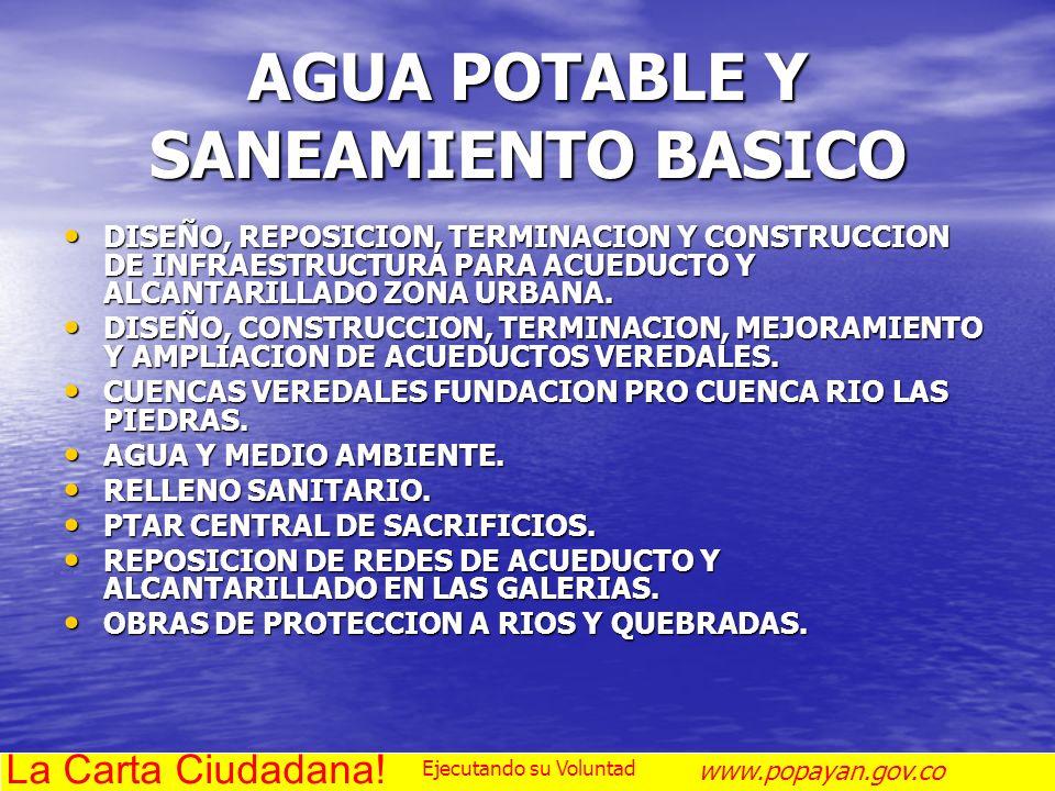 AGUA POTABLE Y SANEAMIENTO BASICO