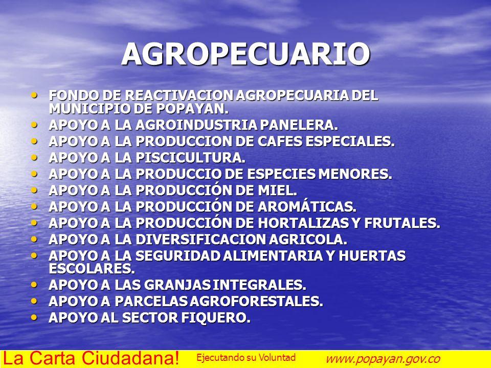 AGROPECUARIO La Carta Ciudadana!