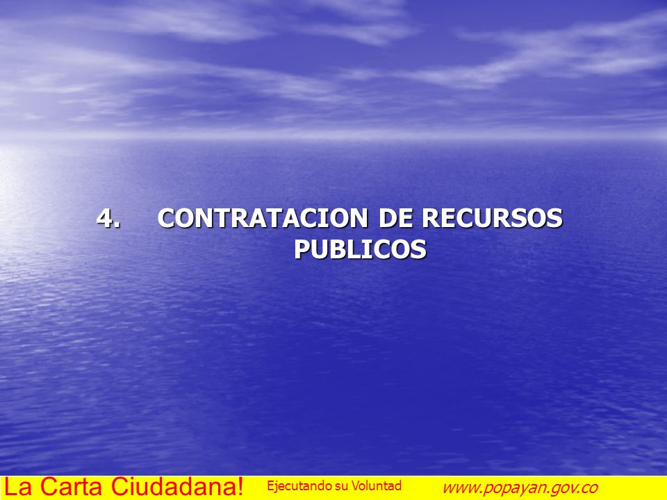 CONTRATACION DE RECURSOS PUBLICOS
