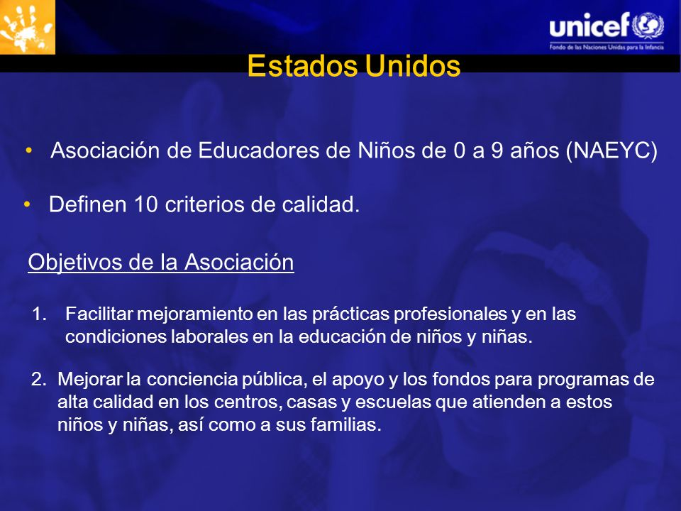 Estados Unidos Asociación de Educadores de Niños de 0 a 9 años (NAEYC)