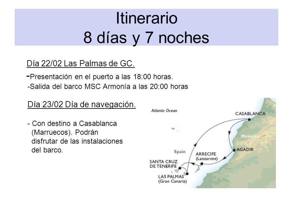 Itinerario 8 días y 7 noches