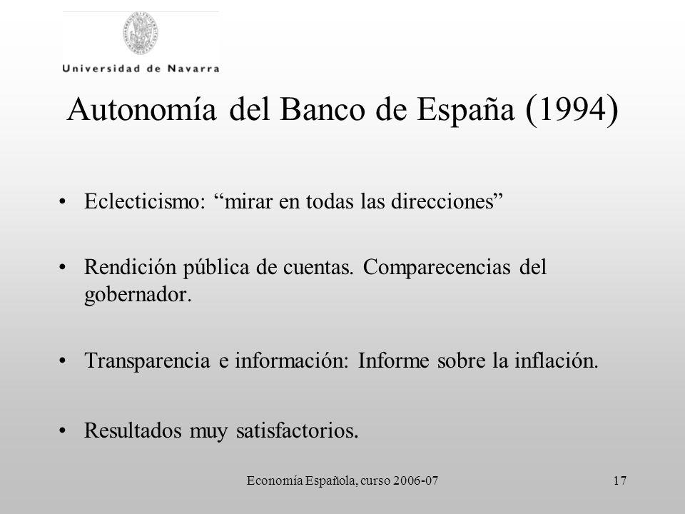 Autonomía del Banco de España (1994)