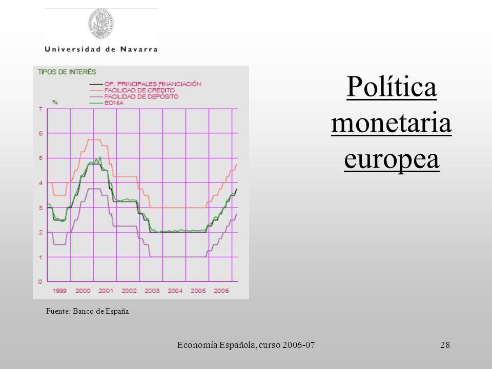Política monetaria europea