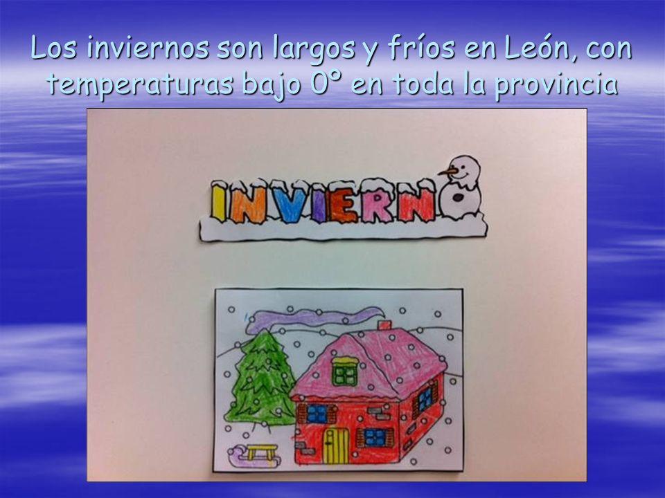 Los inviernos son largos y fríos en León, con temperaturas bajo 0º en toda la provincia