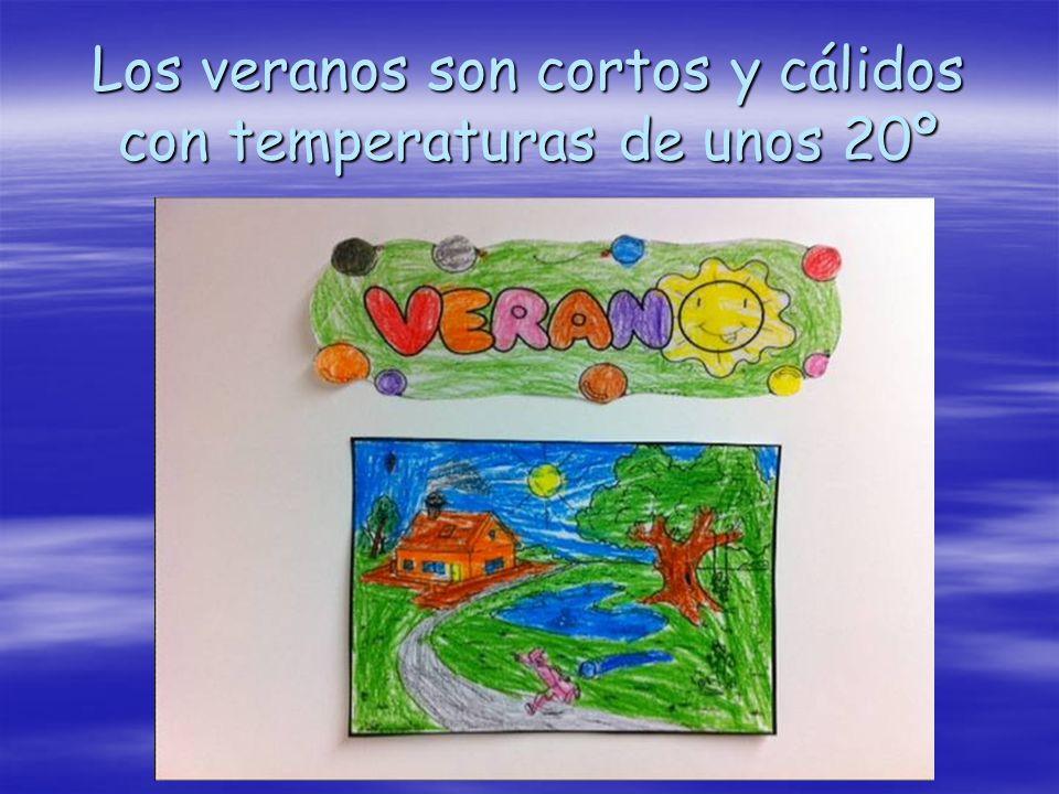 Los veranos son cortos y cálidos con temperaturas de unos 20º