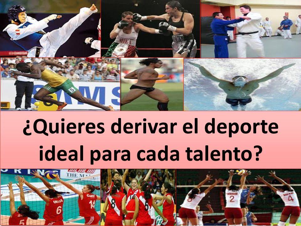 ¿Quieres derivar el deporte ideal para cada talento