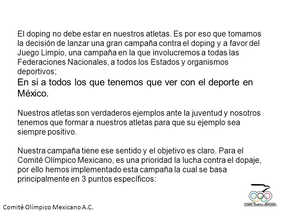 En si a todos los que tenemos que ver con el deporte en México.