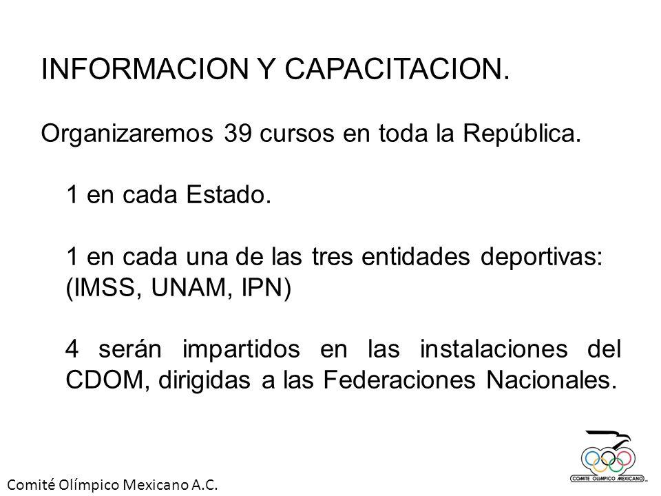 INFORMACION Y CAPACITACION.