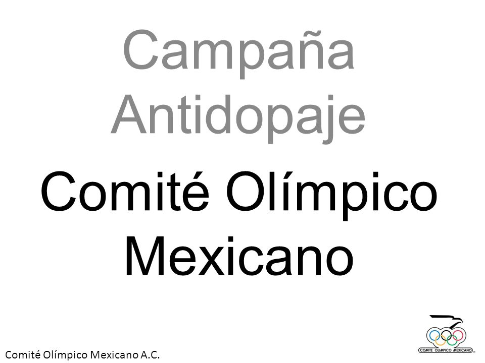 Campaña Antidopaje Comité Olímpico Mexicano