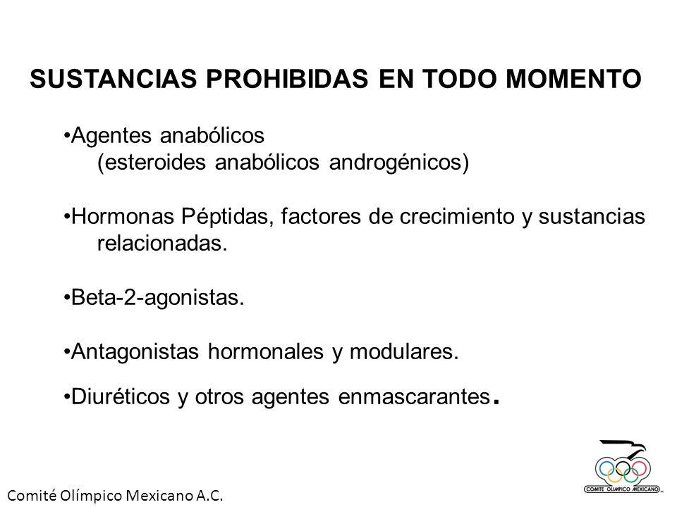 SUSTANCIAS PROHIBIDAS EN TODO MOMENTO