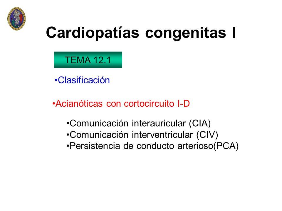 Cardiopatías congenitas I