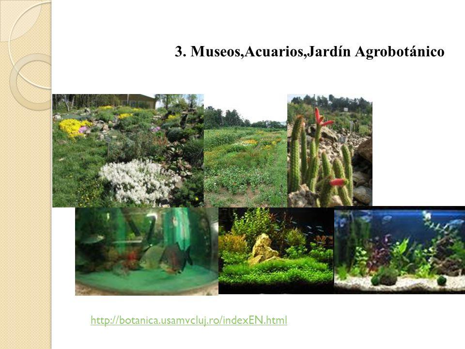 3. Museos,Acuarios,Jardín Agrobotánico