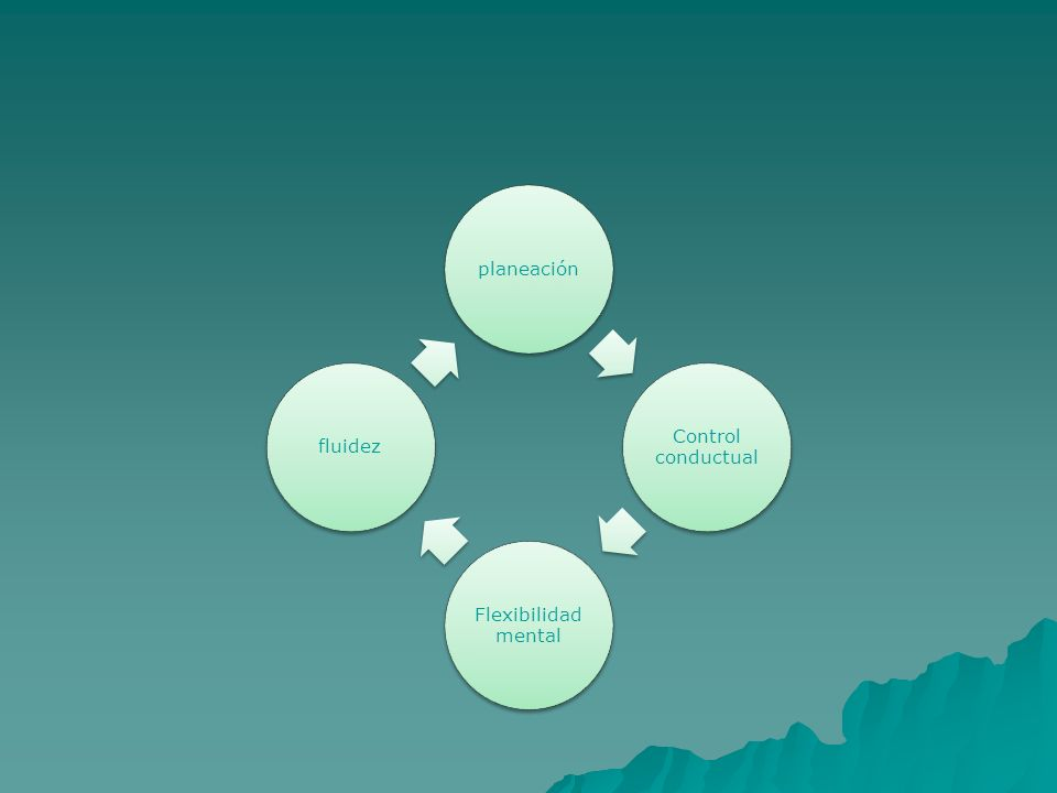 planeación Control conductual Flexibilidad mental fluidez