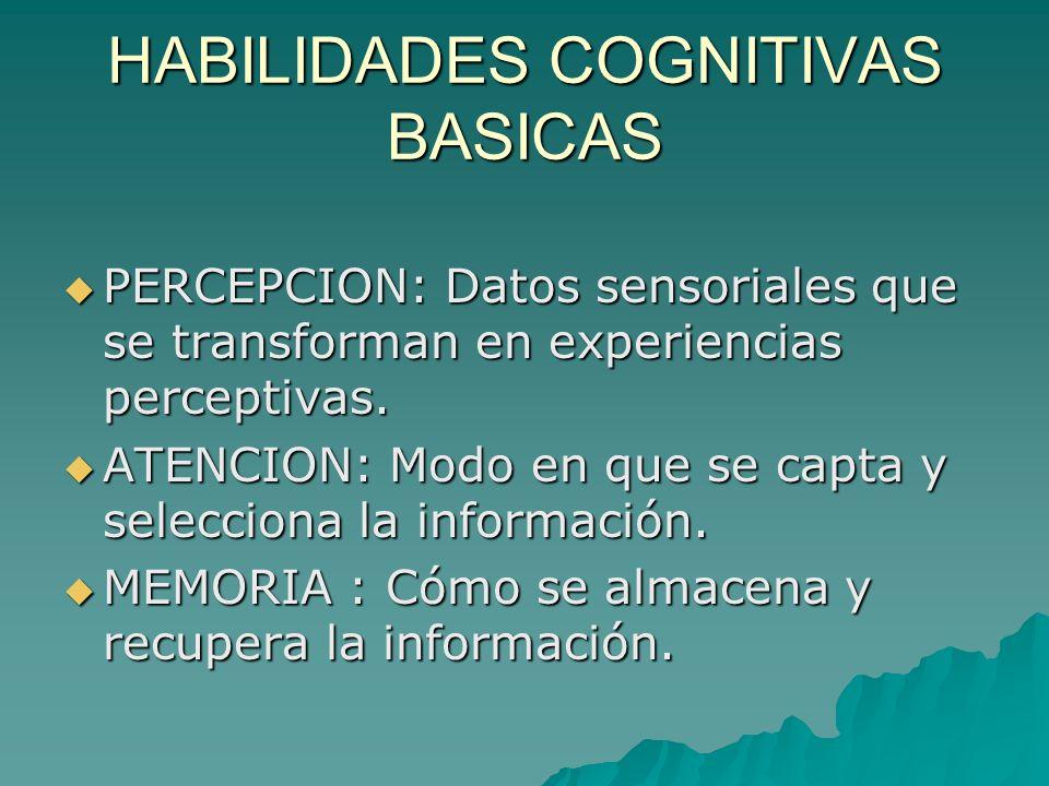 HABILIDADES COGNITIVAS BASICAS