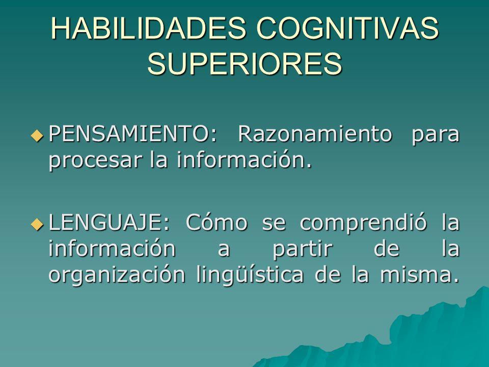 HABILIDADES COGNITIVAS SUPERIORES