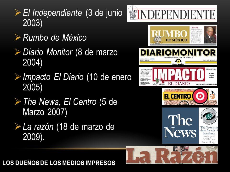 LOS DUEÑOS DE LOS MEDIOS IMPRESOS