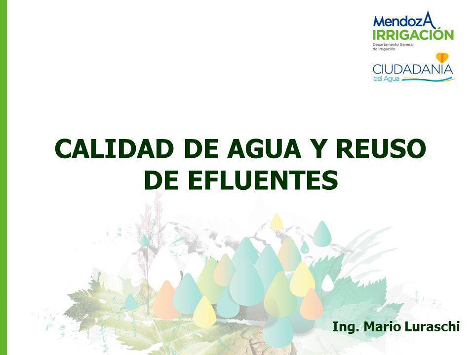 CALIDAD DE AGUA Y REUSO DE EFLUENTES