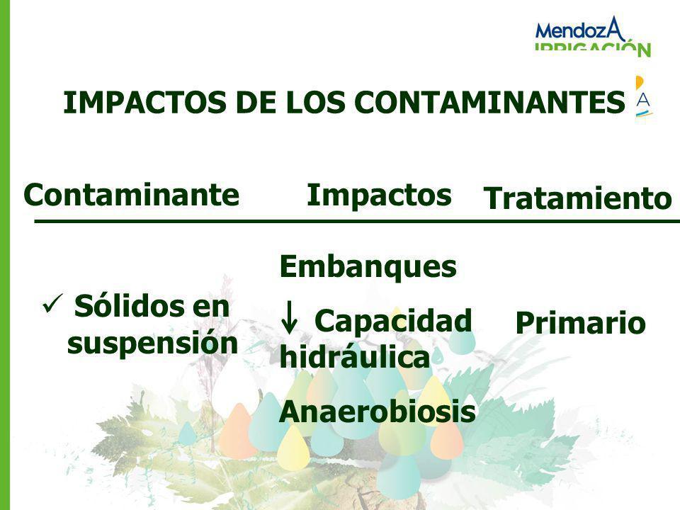 IMPACTOS DE LOS CONTAMINANTES