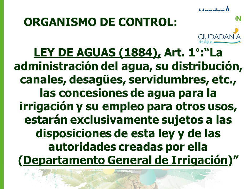 ORGANISMO DE CONTROL: