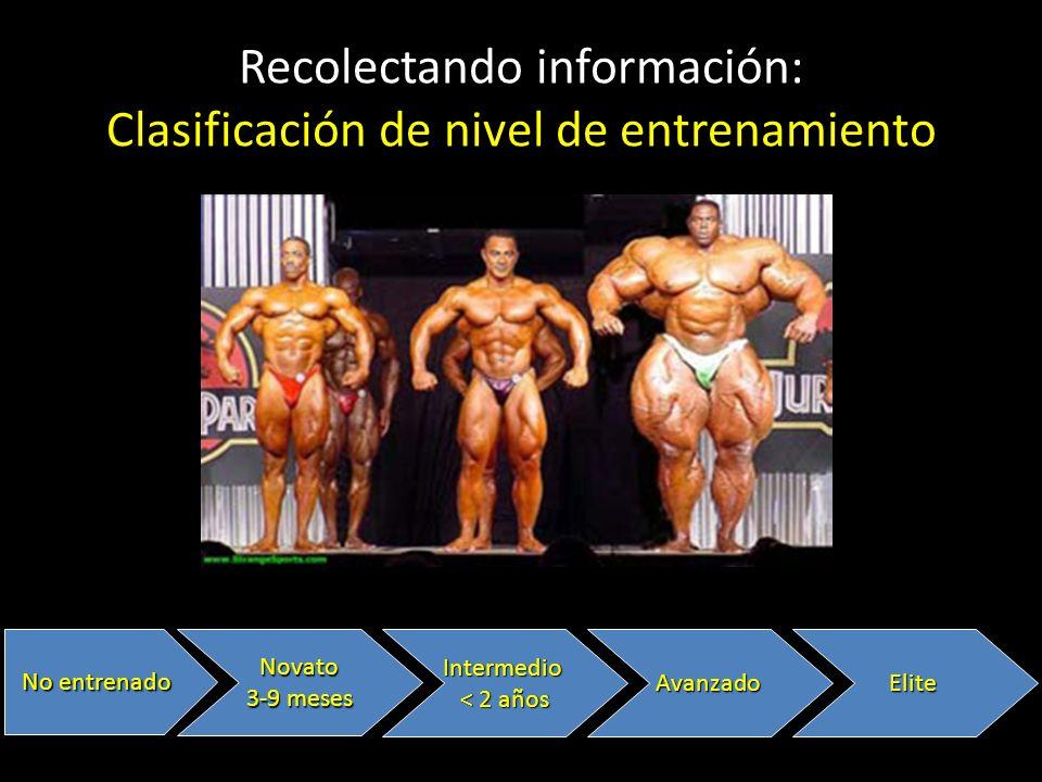 Recolectando información: Clasificación de nivel de entrenamiento