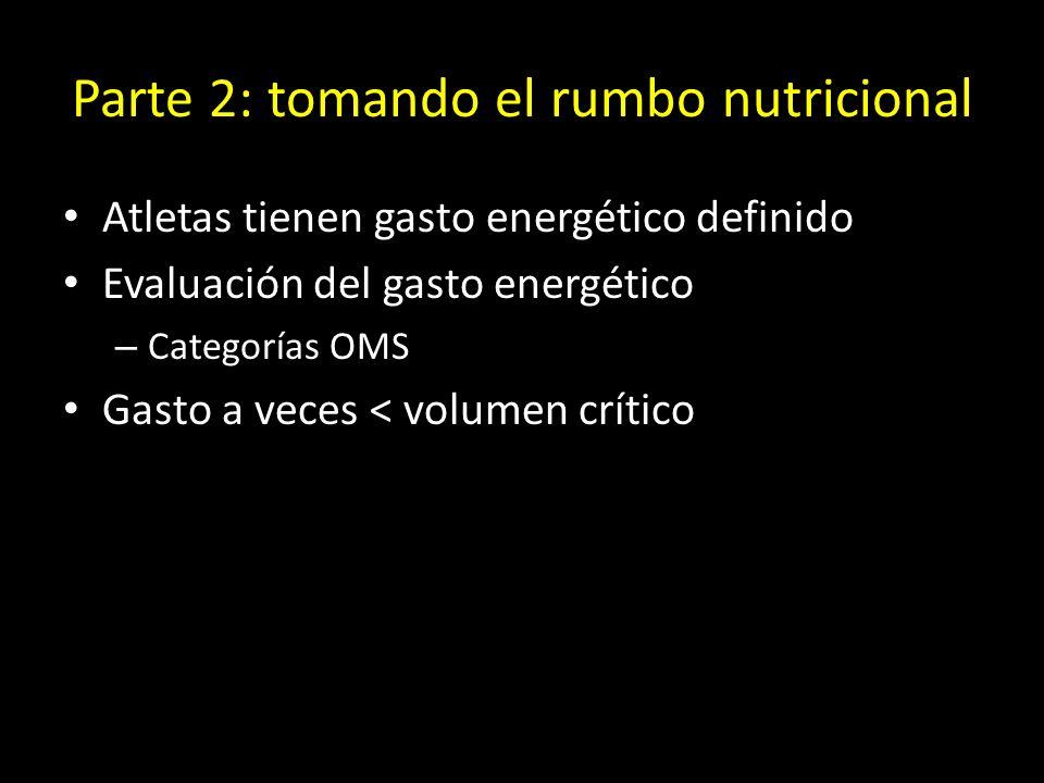 Parte 2: tomando el rumbo nutricional