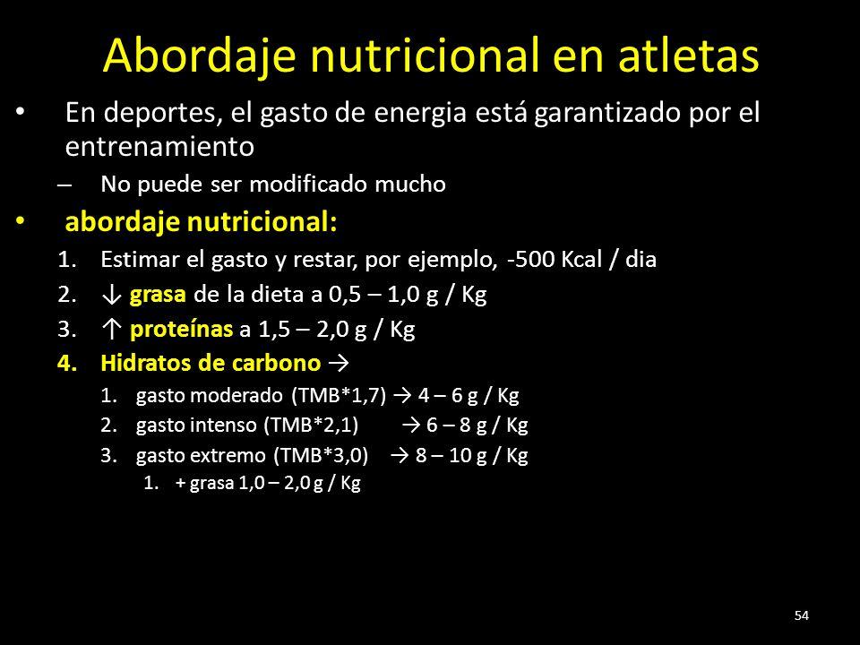 Abordaje nutricional en atletas