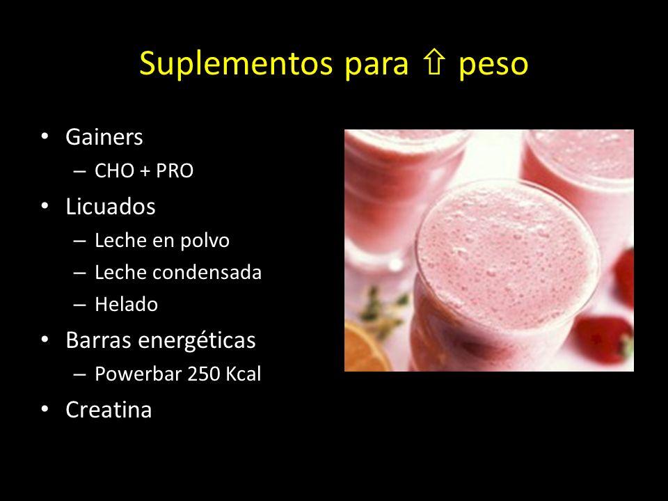 Suplementos para  peso