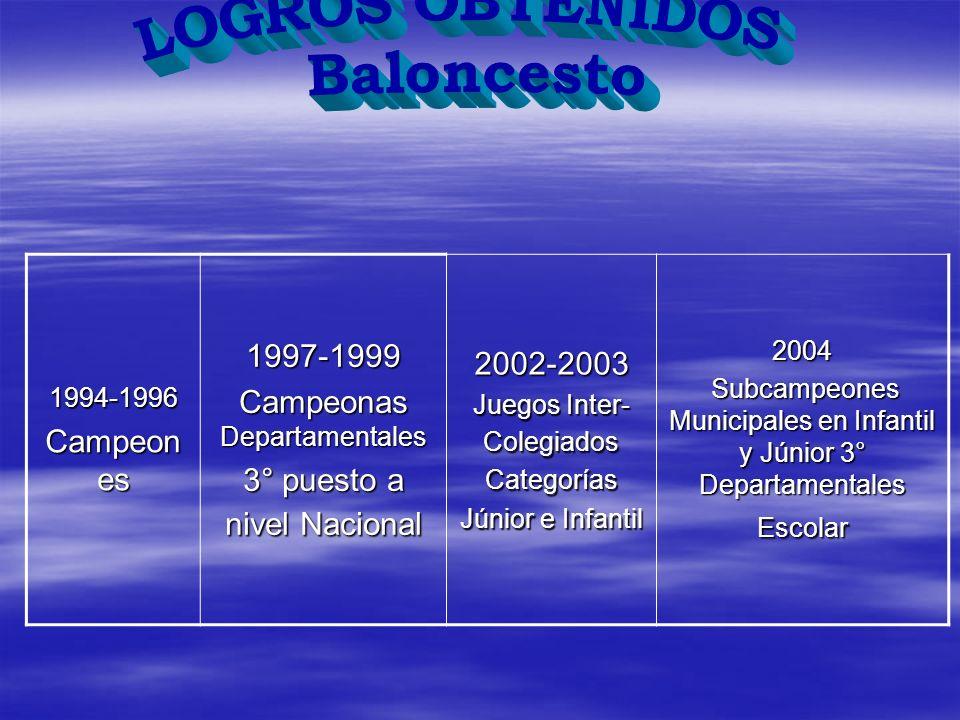 LOGROS OBTENIDOS Baloncesto