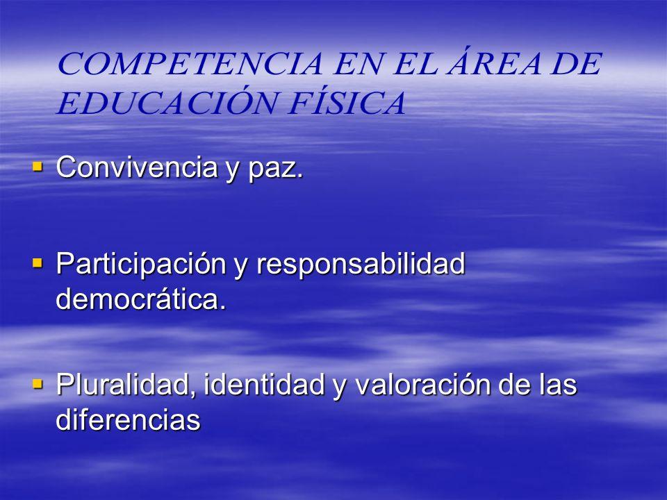 COMPETENCIA EN EL ÁREA DE