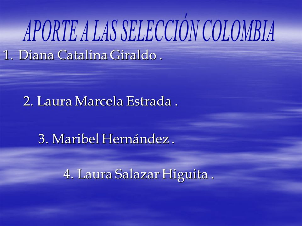 APORTE A LAS SELECCIÓN COLOMBIA