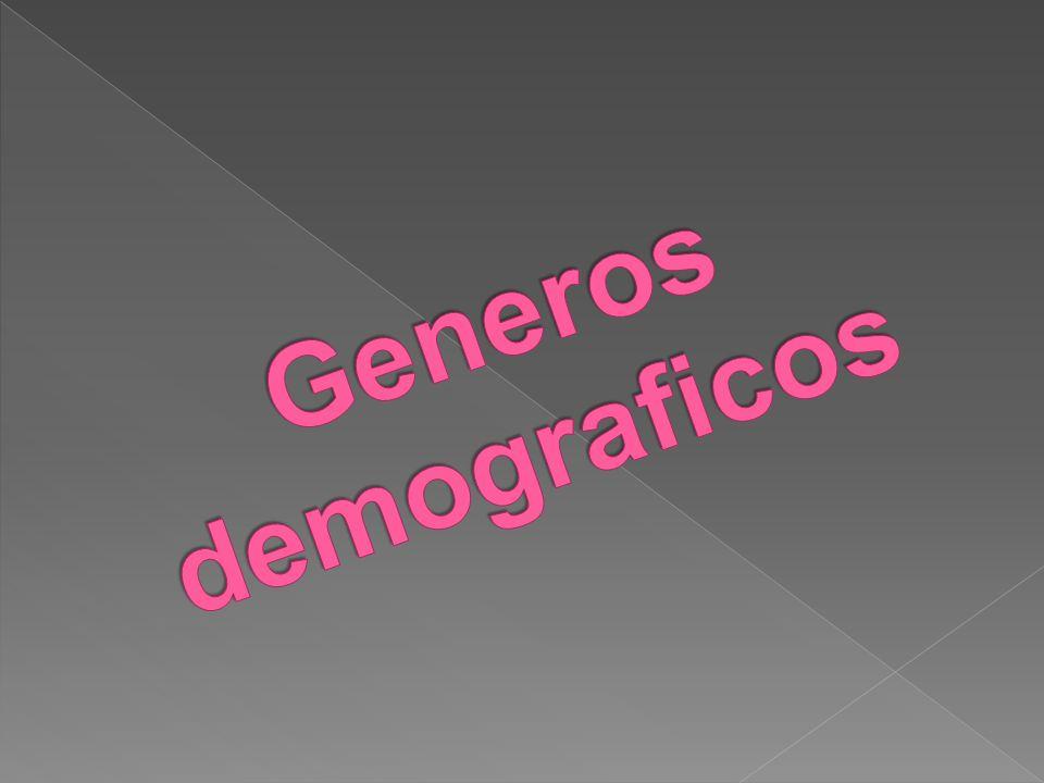 Generos demograficos