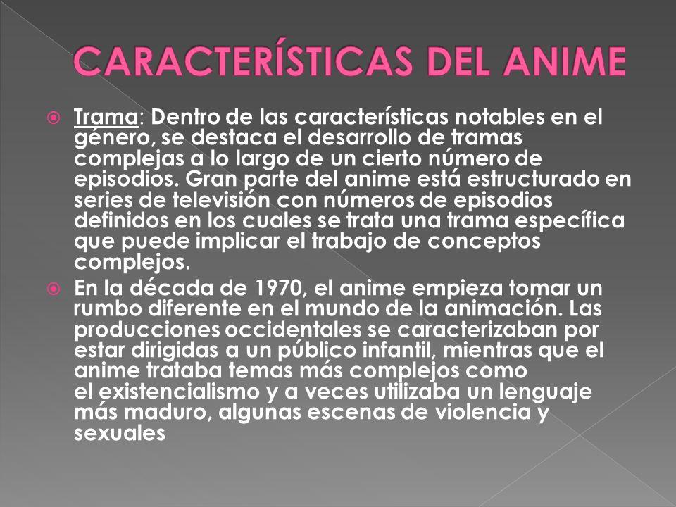 CARACTERÍSTICAS DEL ANIME