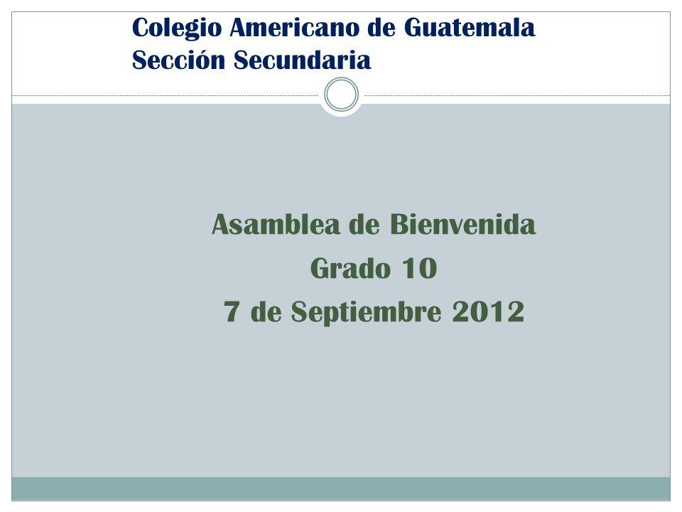 Colegio Americano de Guatemala Sección Secundaria