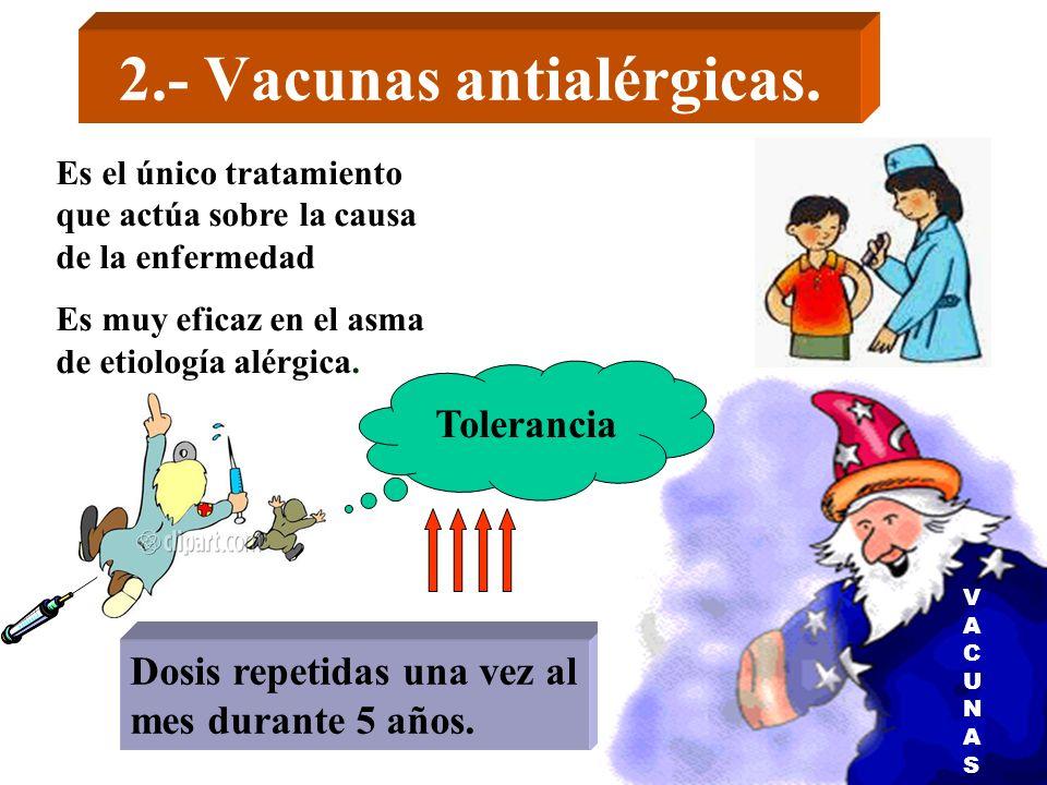 2.- Vacunas antialérgicas.