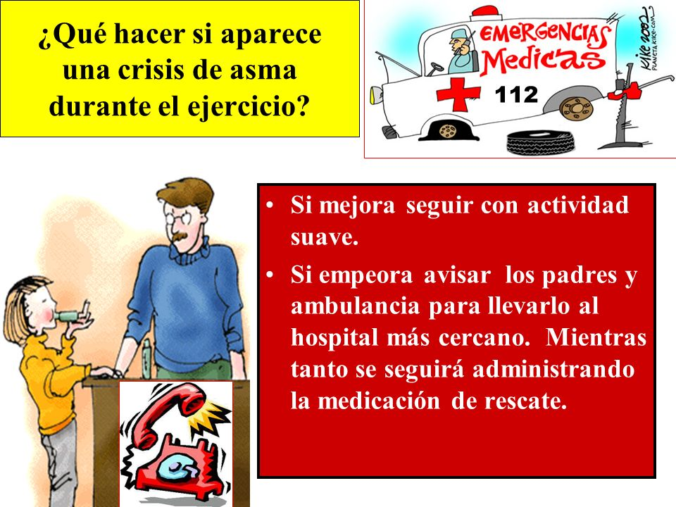 ¿Qué hacer si aparece una crisis de asma durante el ejercicio